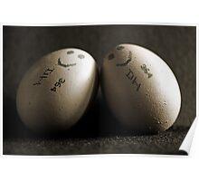 Happy Couple Of Eggs Poster