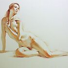 Watercolour Figures 2 by Pauline Adair