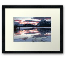 Early morning inspiration - Banff AB Canada Framed Print