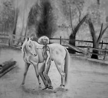 Portrait of My Mom and Her Horse by Rachel Black
