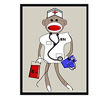 Sock Monkey Nurse Photographic Print