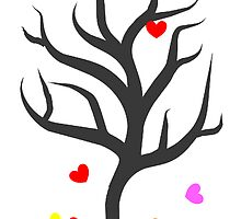 Tree of Falling Hearts by gailg1957