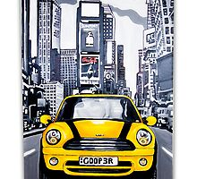 Yellow mini in NY by db artstudio by Deborah Boyle