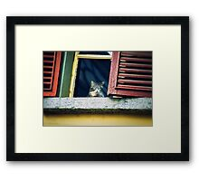 The world outside Framed Print