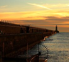 North Tyne Golden Pier  by Harry Purves