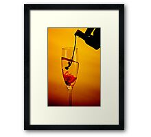 The hand that pours... Framed Print