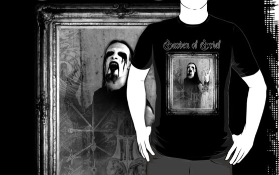GoG shirt: Deluge of Delusions - frame, black by gardenofgrief