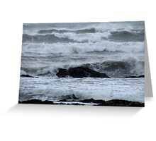 Not a good day for the beach ! Greeting Card