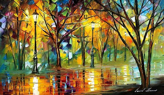 The Path Of Joy - original oil painting on canvas by Leonid Afremov by Leonid  Afremov