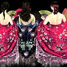 Women in flamenco shawls by Dulcina