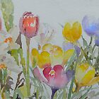 Spring: mixed flowers by Peter Lusby Taylor