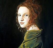Girl with Green Blouse (Fille avec le Chemsier Vert) by RBMcGrathArt
