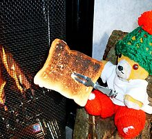 Fred Bear Makes Some Yummy Toast by missmoneypenny