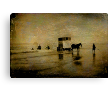 Bathing Canvas Print