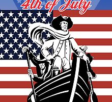 American revolutionary general 4th of July Day card by patrimonio