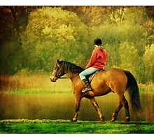 A Gentle Canter Photographic Print