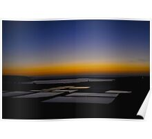 Sunset on the salt flats of Janubio Lanzarote Canary Island Poster