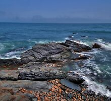 Rocky Shore- Newport by JHRphotoART