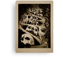 Dancing With Death- Intaglio Print Canvas Print