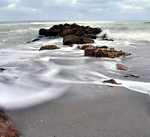 Rocks on the Beach by Kim McClain Gregal