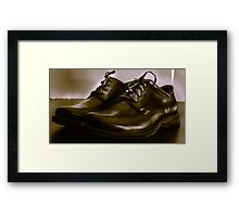 Two Shoes on a Table Framed Print