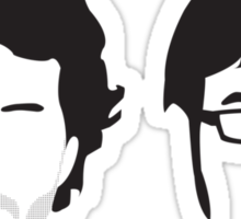 Flight of the Conchords Silly-ettes Sticker