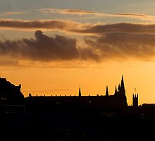 Edinburgh Skyline by Lynne Morris