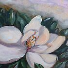 Magnolia flower by Saga Sabin