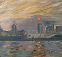 Albany from the Hudson by bugler