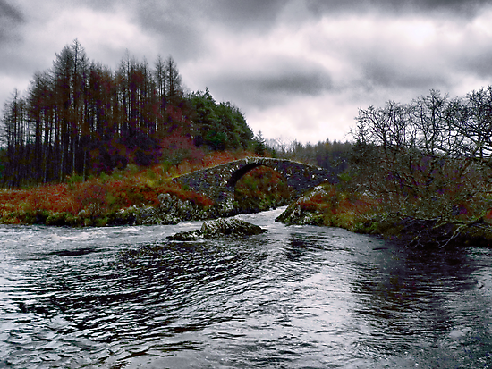""" Roman Bridge "" Over The River Minnoch by derekbeattie"