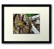 Farm Implement - Days of Olde Framed Print