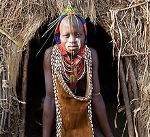 YOUNG WOMAN FROM THE KARO TRIBE by Nicholas Perry