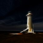 Lighthouse glow by John Morton