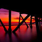 Semaphore Sunset by Nathan Waddell