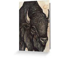 The Black Buffalo Greeting Card