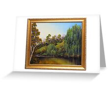 WEEPING WILLOW CREEK Greeting Card