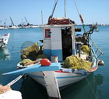boat , samos - greece by annet goetheer