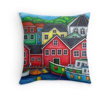 Colours of Lunenburg, Nova Scotia Throw Pillow