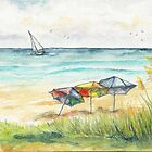 Beach Umbrellas by Janis Lee Colon