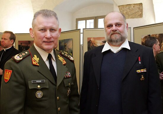 Me and Lithuanian Armed Forces Commander by Antanas