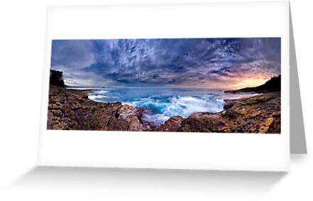 Dawn Spectrum (Borderless) - Sunrise @ Bannister Point, Mollymook by Richard Lam