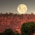 Super Full Moon rising by BigAndRed