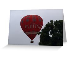 Balloon over my suburb. Greeting Card