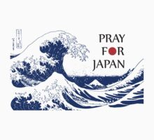 PRAY FOR JAPAN - Hokusai by Mariko Suzuki