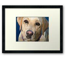 """Yellow Dog"" Framed Print"