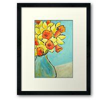 March daffodils Framed Print