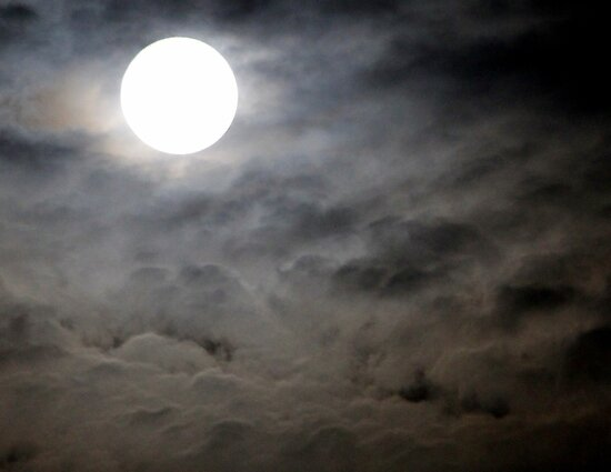 Super moon over Africa by Antionette