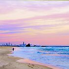 The Early Morning Stroll - Currumbin Beach Qld by Beth  Wode