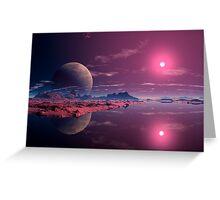 Alien Dawn Greeting Card