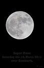 Super moon over Denmark Copenhagen by imagic